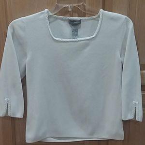 Perfect wardrobe addition white knit sweater